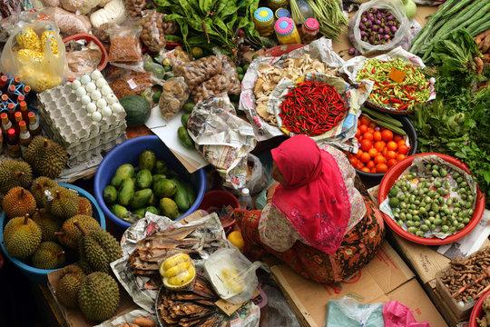 Pasar Siti Khadijah, Kelantan, Malaysia..