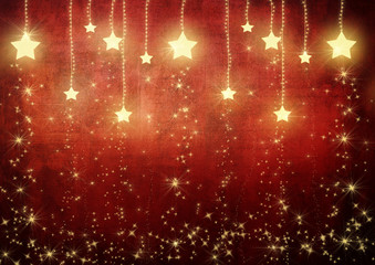 Stars on Red Background