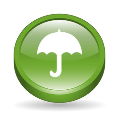Umbrella Sign 3D Icon Button