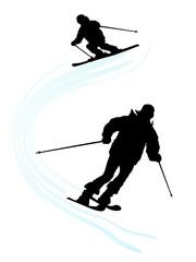 Silhouette sport icon - vector illustration