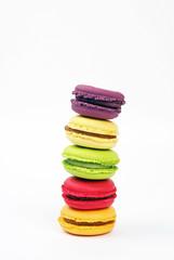 Poster Macarons Tour de Pise de macarons aux parfums variés