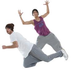 two hip hop dancers