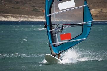 Windsurfing in Alacati, Cesme, Turkey