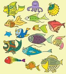 Cute design fish vector