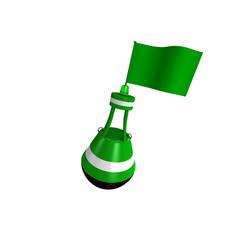 Boje mit Fahne beschreibbar