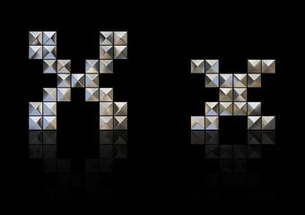 スタッズ・アルファベット x