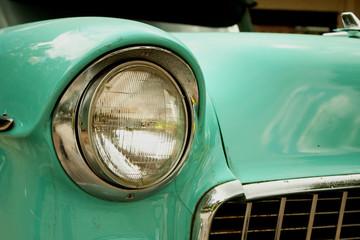 Printed roller blinds Vintage cars Old Green Car 1