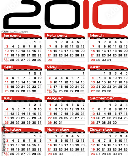 Calendario Planning.Calendario De Mesa Secretary Planning 2010 Stock Image