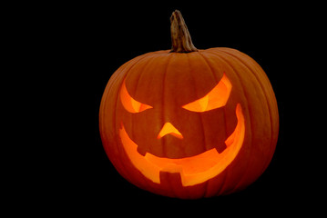 Halloween Kürbis auf Schwarz