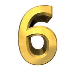 3d number 5 in gold