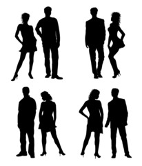 illustration - junge paare
