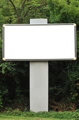 Blank billboard and trees