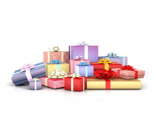 Pile of giftboxes