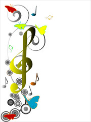 Abstract musical design - vector illustration