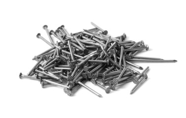 Heap of nails isolated