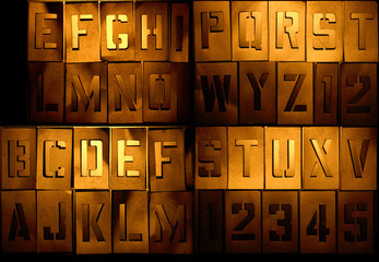 Grunge alphabet so you can compose your message