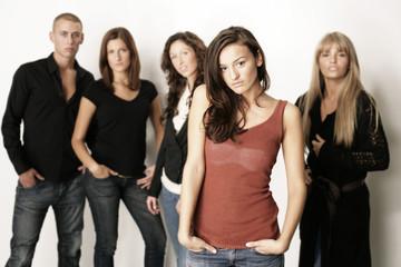 gruppe teenager