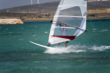 Windsurfing in Alacati, Cesme, Turkey