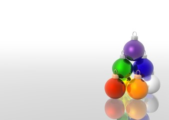 Colored Christmas Balls - christmas background illustration