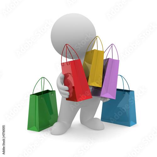 Omino shopping immagini e fotografie royalty free su for Scarica clipart