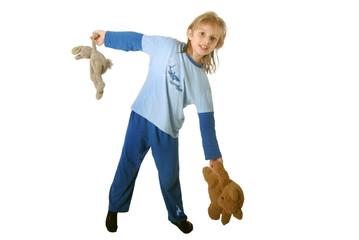 Photos illustrations et vid os de pyjama bleu - A quelle heure coucher enfant 3 ans ...