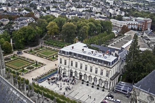 Vue aérienne de la ville de Bourges