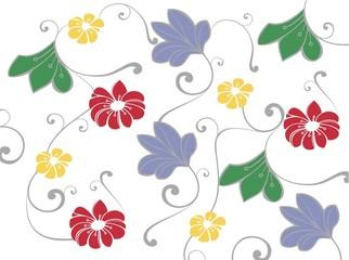 coloured flower design