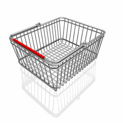 3d basket isolated in white background