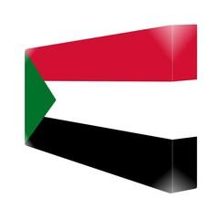 brique glassy avec drapeau soudan sudan