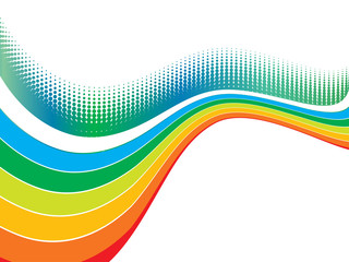 rainbow wave halftone