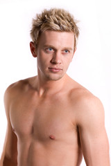 Attractive young swimmer