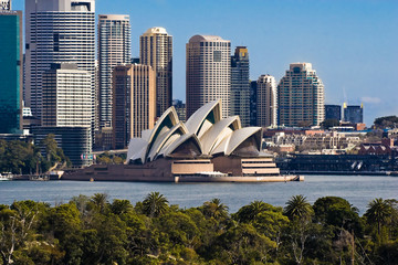 Photo sur Aluminium Australie Sydney Opera House and Skyline
