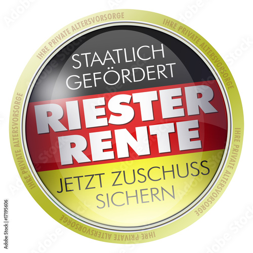 button label logo riester rente private altersvorsorge stockfotos und lizenzfreie bilder auf. Black Bedroom Furniture Sets. Home Design Ideas