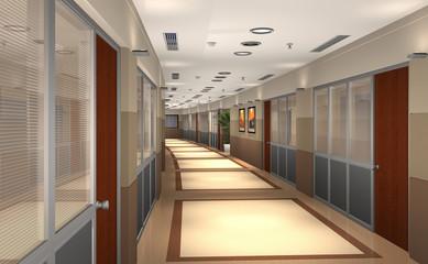 3D hallway