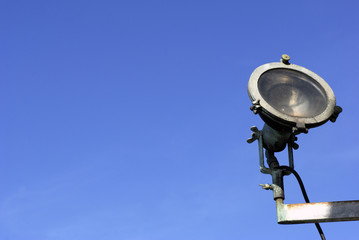 Sky blue spotlight