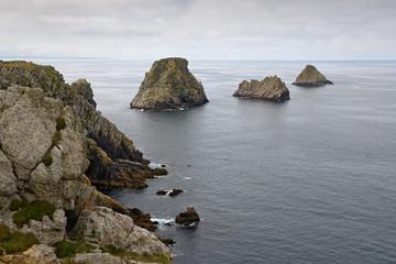 Cliffs in  the Pointe du Penhir, Brittany, France