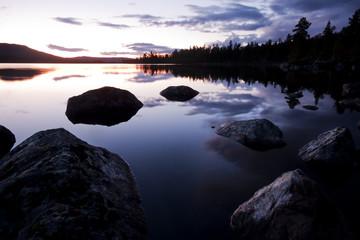 Lake Hävlingen after Sunset