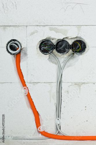 elektoinstallation stockfotos und lizenzfreie bilder auf bild 17231228. Black Bedroom Furniture Sets. Home Design Ideas