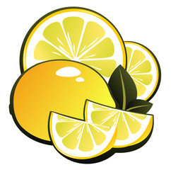 lemon and slices