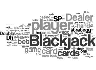 Black Jack word cloud