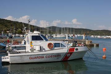 Barca Della Guardia Costiera - Talamone, Toscana