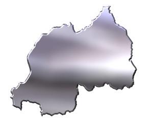 Rwanda 3D Silver Map