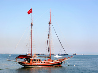 Typical Turkish gulet yacht