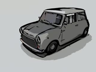 Drawing mini cooper