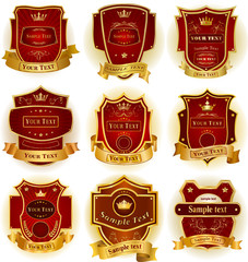 Decorative labels collection vector