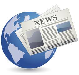 Vector global news icon
