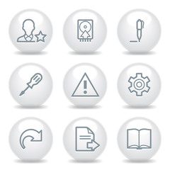 Gray icons set 7