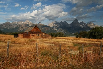 Old barn in the Tetons