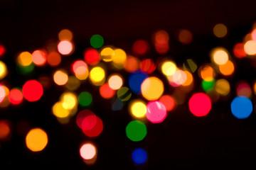 colorful lights on black background
