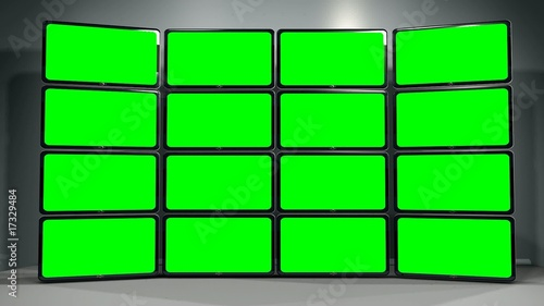3d multi green screen animation blank template stock footage and